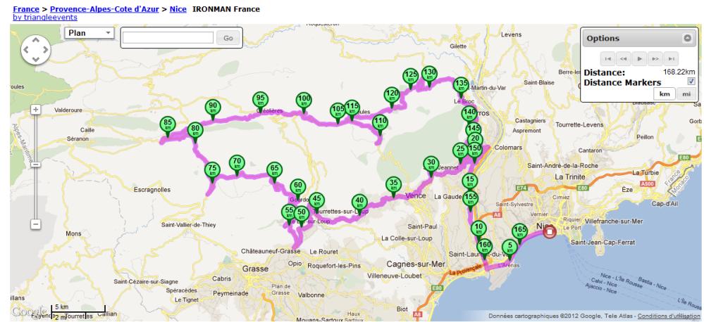 Reconnaissance Parcours Vélo Par BoB (Coach) ironman Nice 2012 (1/2)