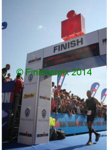 Jeff Finisher ironman Nice 2014